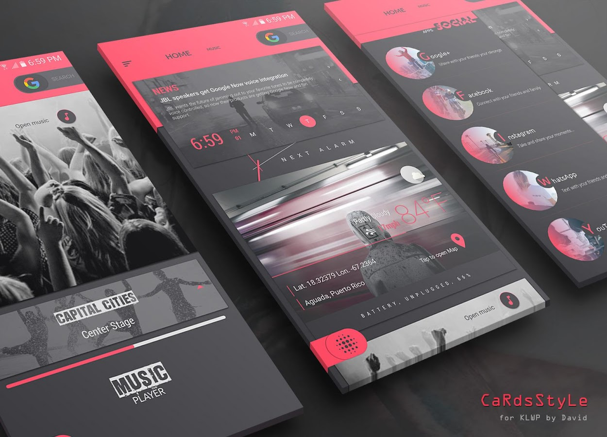 CaRdsStyLes for KLWP Screenshot