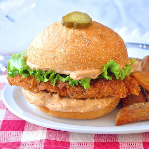 Copycat Big Mary Chicken Sandwich with Taters