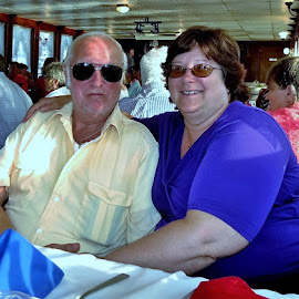 Dinner with Hubby by Theresa Evans - People Couples ( love, boats, mi amore, couples )