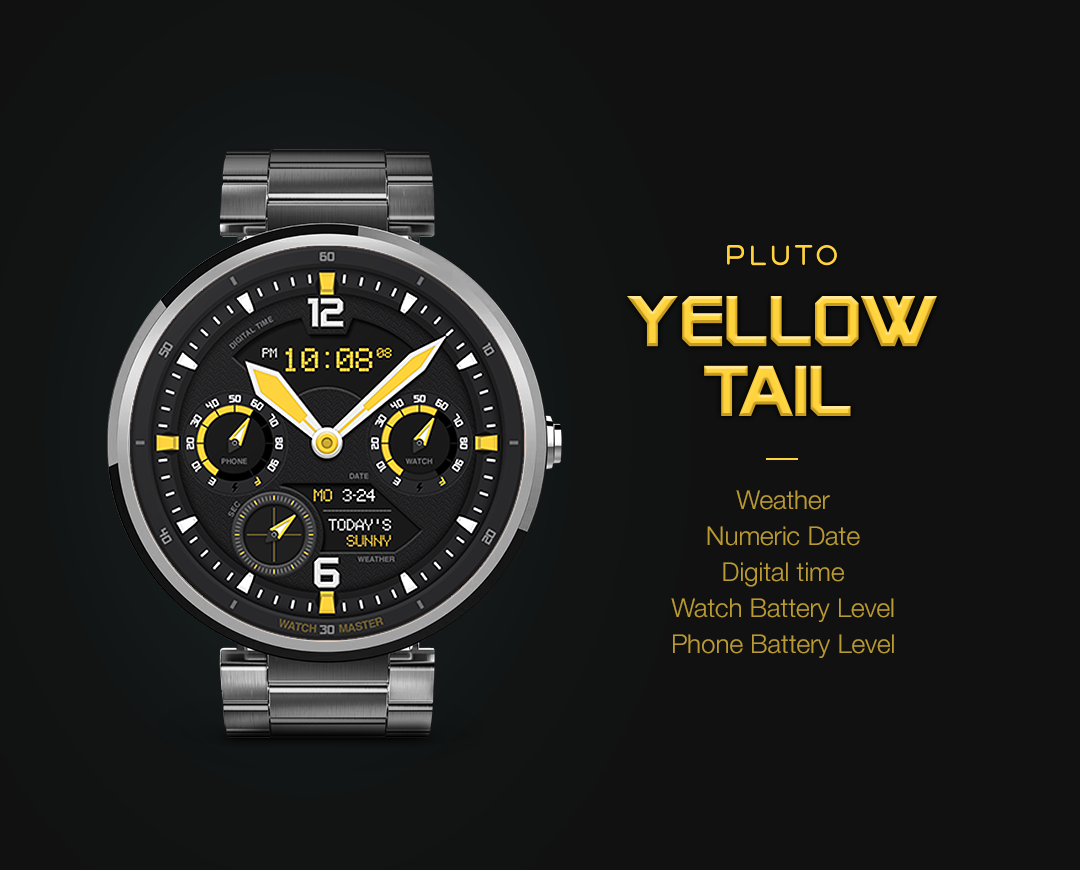 YellowTail watchface by Pluto Screenshot 0