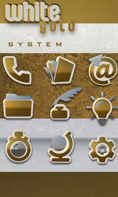 Icon Pack White Gold 3D Screenshot 3