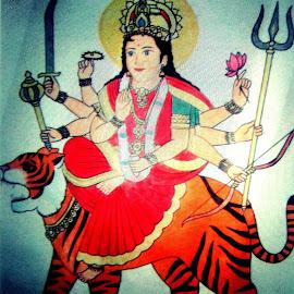 Aadi shakti maa durga by Aarti Chaudhary - Drawing All Drawing