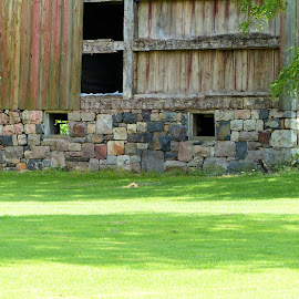 Cut Stone Still Strong by Dean Ramsay - Buildings & Architecture Architectural Detail ( farm, barn, cut stone foundation )