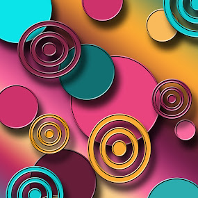 Circles by Mitzi Sibert - Print & Graphics All Print & Graphics