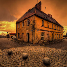 The Stone Balls by Aleksander Grzelak - Buildings & Architecture Homes ( hdr, urban landscapes, colorful, pentax, abandoned, poland )