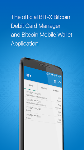 android BIT-X Bitcoin Wallet Screenshot 0
