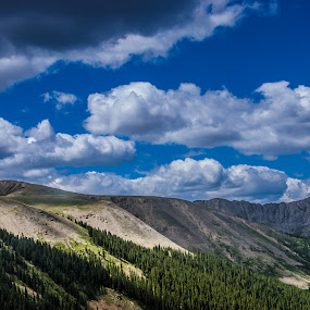 Independence Pass by Hunter Bryant - Landscapes Mountains & Hills ( clouds, mountains, colorado )