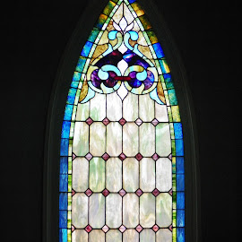Colorful Window by Sandy Stevens Krassinger - Artistic Objects Glass ( patterns, window, colorful, artistic object, stained glass )