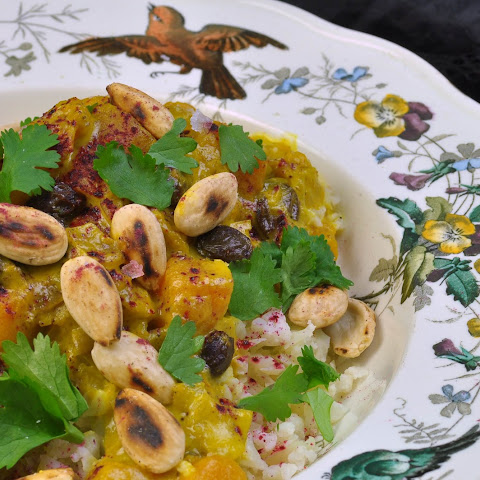 Curry With Pumpkin And Tart Hibiscus Powder