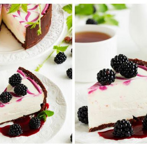 CHEESECAKE WITHOUT BAKING WITH BLACKBERRIES ALMOST»