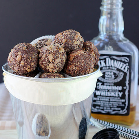 Chocolate Whiskey Toffee Truffles