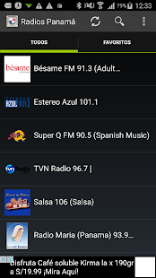 Radios Panamá - screenshot