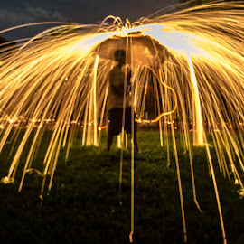 Raining Fire by Chris Martin - Abstract Light Painting (  )