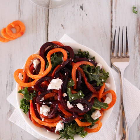 Sweet Potato and Beet Spiral Salad