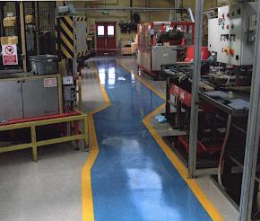 Warehouse epoxy aisle markings
