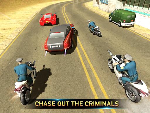 Police Bike Shooting - Gangster Chase Car Shooter screenshot 9