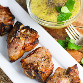 Lamb Chops with Mint Mustard Sauce