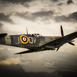 Spitfire. by Alan  R Dyson - Transportation Airplanes ( canon, spitfire, 7d, lytham, aircraft, st annes )