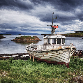 Out of Water by Richard Michael Lingo - Transportation Boats ( water, iceland, land, transportation, boat )