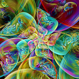 Bipolar Bubble Spiral by Peggi Wolfe - Illustration Abstract & Patterns ( digital, gift, color, wolfepaw, jwildfire, bright, pattern, spiral, abstract, décor, print, bubble, unique, fractal, illustration, bipolar, unusual, fun )