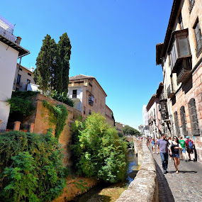 Granada, Spain by Francis Xavier Camilleri - City,  Street & Park  Historic Districts