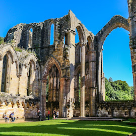 Fountains Abbey ruins by Mandy Hedley - Buildings & Architecture Public & Historical ( fountains, ruins, national trust, ripon, abbey )