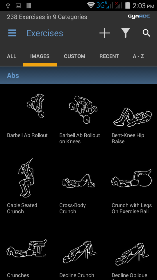 GymACE Pro: Workout Tracker & Body Log Screenshot 1