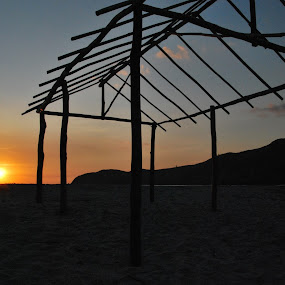Sunset Solitude by Geb Bunado - Landscapes Beaches ( adventure, camping, zambales, cove, beach, nagsasa cove, philippines )