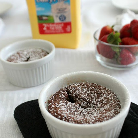 Chocolate Clafoutis with Strawberries