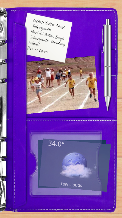 Agenda Purple Theme for TL Screenshot 1