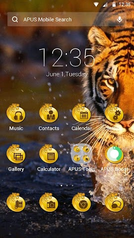 android The Tiger theme for APUS Screenshot 0