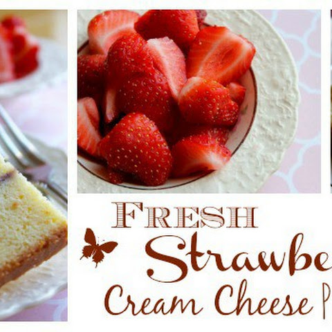 Fresh Strawberry Cream Cheese Pound Cake