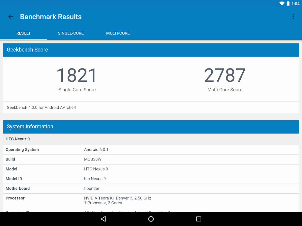 Geekbench 4 Screenshot 10