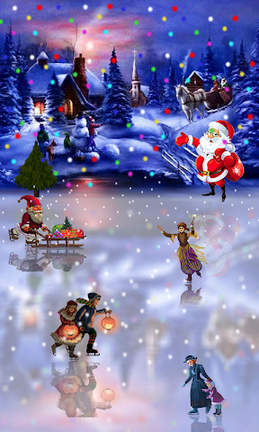 android Christmas Rink Live Wallpaper Screenshot 1