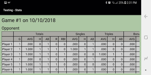 Dartball Statistician screenshot 4