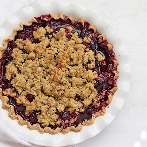 Triple Berry Crumble Pie