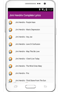 Jimi Hendrix Complete Lyrics - screenshot
