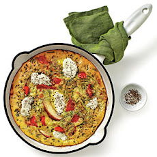 Red Pepper, Potato, and Ricotta Frittata
