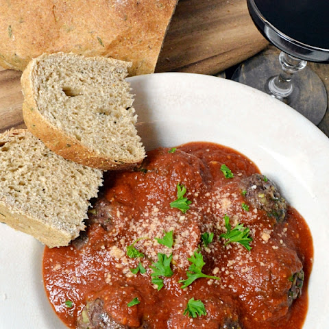 Garlic-Herb Tomato Sauce with Italian Meatballs