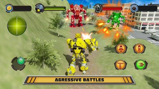 War Robot Car Transformer Games