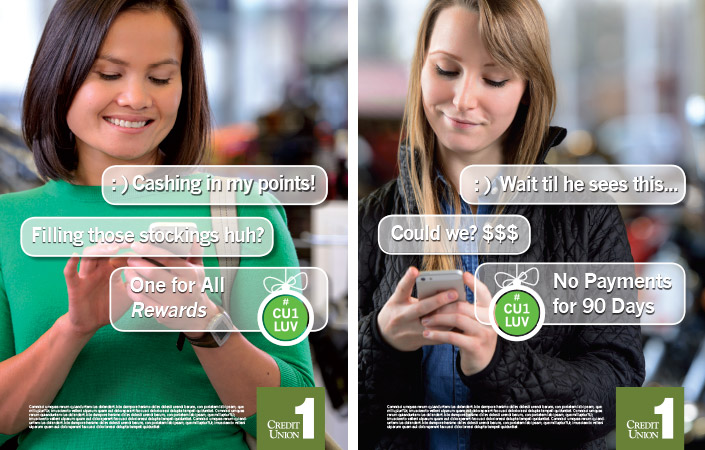 Credit Union 1, Ads