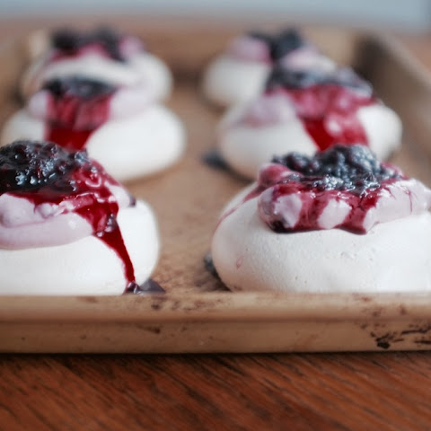 Mini Cardamom Blackberry Pavlovas