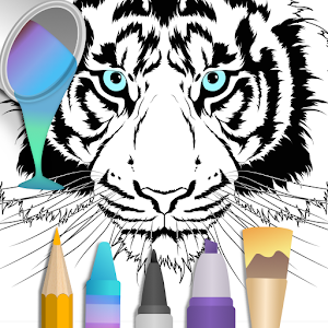 Coloring pages:Animals Mandala Icon