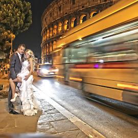 rome by Onti Cinematographer - Wedding Bride & Groom