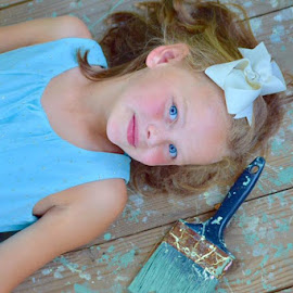 Hues of Blue by Alisa Lindsey - Babies & Children Child Portraits