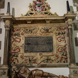 Monument To Knight Edmund Uvedale (1606) by Paul Milligan - Buildings & Architecture Architectural Detail ( religion, memorial, church, decoration, architectural detail )
