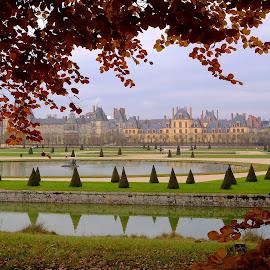Chateau de Fontainebleau by Fred Goldstein - Buildings & Architecture Public & Historical ( fontainebleau, autumn, france, castle, palace, chateau )