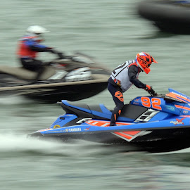 Jetski by Les Reynolds Amanda Whichello - Sports & Fitness Watersports ( p1aqua, milford haven, jet ski )