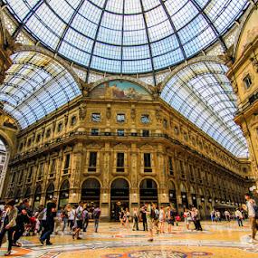 Galleria Vittorio Emanuele II , Milan , Italy by Hisham Elhuni - Buildings & Architecture Public & Historical