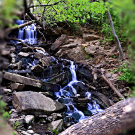 Parkville Waterfall by Richard Roberts Jr. - Nature Up Close Water ( water, beautiful waterfalls, waterfalls, nature, beautiful waterfall, beautiful, long exposure photography, waterfall, nature photography, long exposure, beauty in nature )